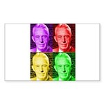 Colorful Bill W Sticker (Rectangle)