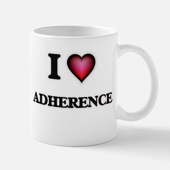 I Love Adherence Mugs