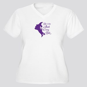 Boring Hair Women's Plus Size V-Neck T-Shirt