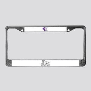 Boring Hair License Plate Frame