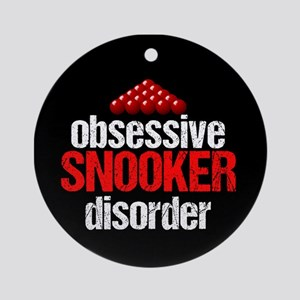 Funny Snooker Round Ornament