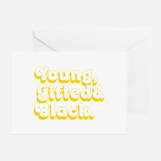 Young, Gifted & Black. Greeting Cards