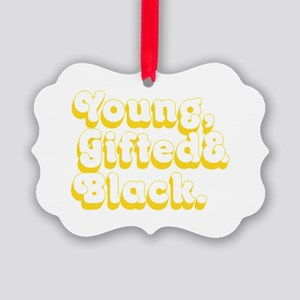 Young, Gifted & Black. Picture Ornament