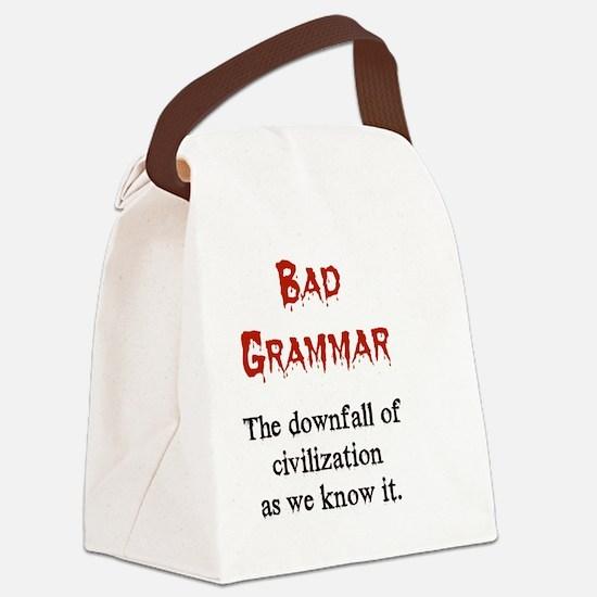 Bad Grammar Canvas Lunch Bag