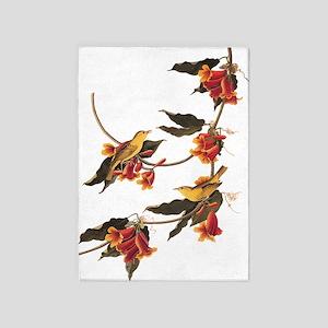 Rathbone's Warblers Vintage Audubon Art 5'x7'Area