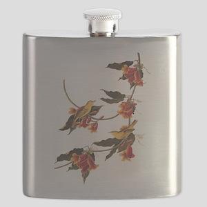 Rathbone's Warblers Vintage Audubon Art Flask