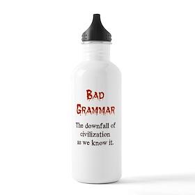 Bad Grammar Stainless Water Bottle 1.0L