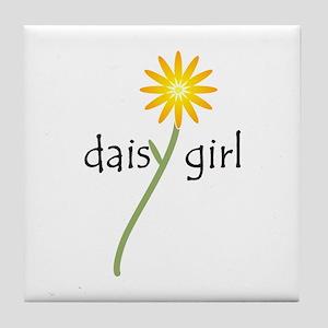 Daisy Girl Tile Coaster