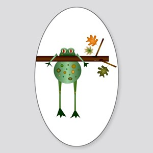 Of Trees and Frogs Oval Sticker