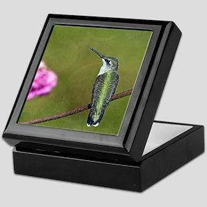 Hummingbird and Zinnia Keepsake Box