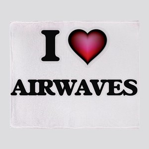 I Love Airwaves Throw Blanket