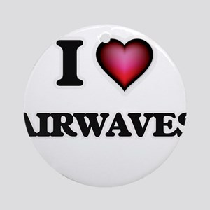 I Love Airwaves Round Ornament