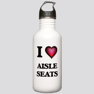 I Love Aisle Seats Stainless Water Bottle 1.0L