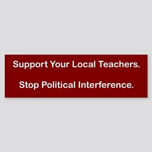 Interference Bumper Sticker
