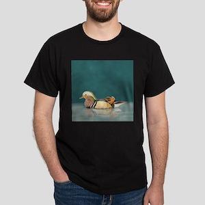 Watercolor Wood Duck Bird Nature Art T-Shirt