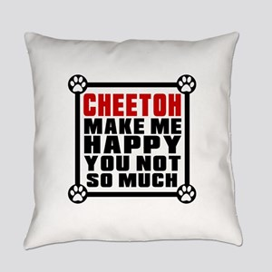 Cheetoh Cat Make Me Happy Everyday Pillow