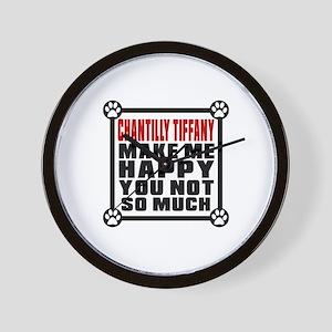 Chantilly Tiffany Cat Make Me Happy Wall Clock