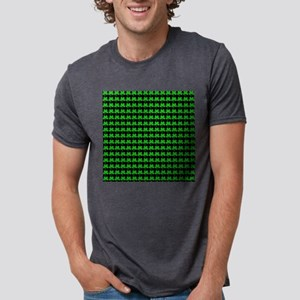 Green Shamrocks St. Patricks Day Black T-Shirt