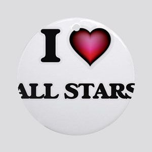 I Love All-Stars Round Ornament