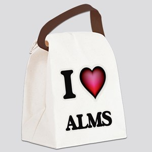 I Love Alms Canvas Lunch Bag