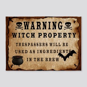 Wanning Witch Property 5'x7'Area Rug