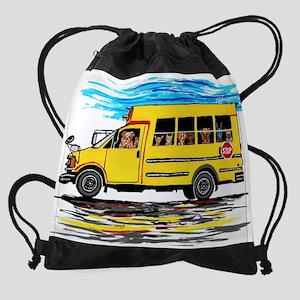 School Bus Drawstring Bag