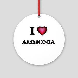 I Love Ammonia Round Ornament