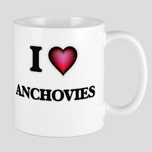 I Love Anchovies Mugs