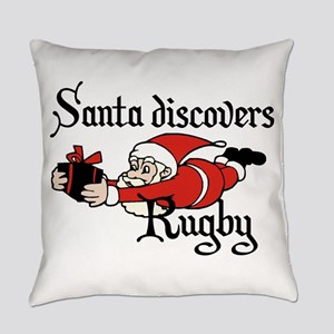 Santa discovers Rugby Everyday Pillow