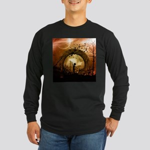 Cute dancing fairy in the sunset Long Sleeve T-Shi