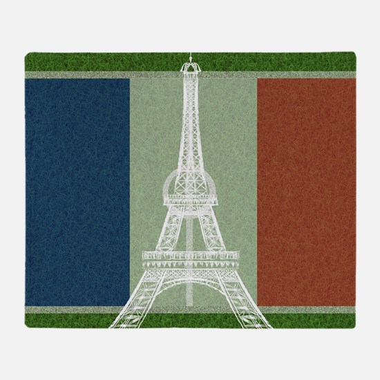 Unique France soccer Throw Blanket