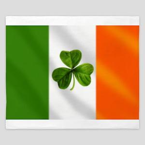 Irish Shamrock Flag King Duvet