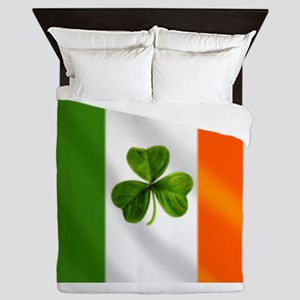 Irish Shamrock Flag Queen Duvet