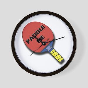 Paddle Me Ping Pong Wall Clock