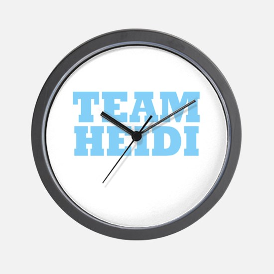 Team Heidi Wall Clock
