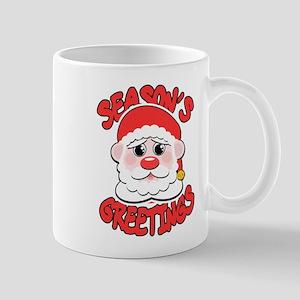 Season's Greetings Santa Mugs