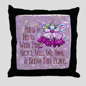 Harvest Moons Vintage Fairy Throw Pillow