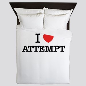 I Love ATTEMPT Queen Duvet