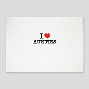I Love AUNTIES 5'x7'Area Rug