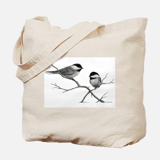 chickadee song bird Tote Bag