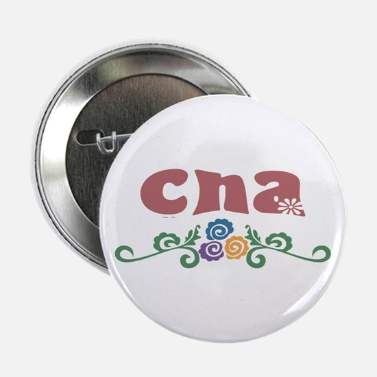 "CNA Flower Decor 2.25"" Button"