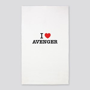 I Love AVENGER Area Rug