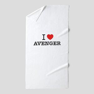I Love AVENGER Beach Towel