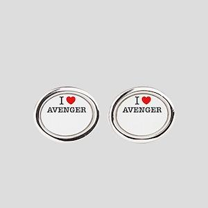 I Love AVENGER Oval Cufflinks