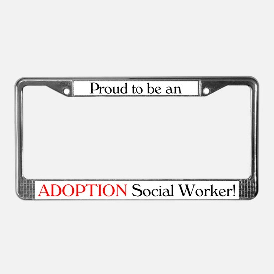 Proud Adoption SW License Plate Frame