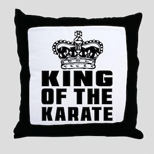 King Of The Karate Throw Pillow