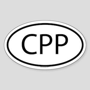CPP Oval Sticker