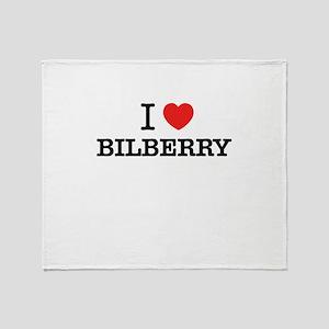 I Love BILBERRY Throw Blanket