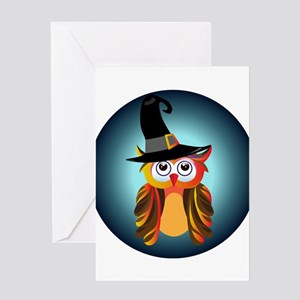 Witch Owl Greeting Cards