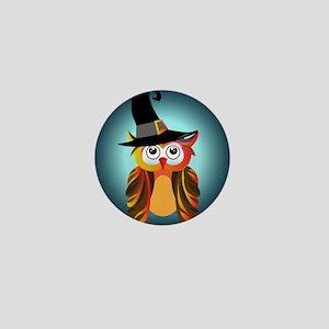 Witch Owl Mini Button